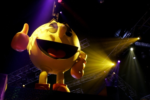Pac-Man at an E3 Expo in Los Angeles
