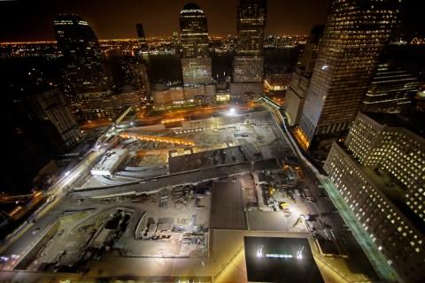 Ground Zero in downtown New York City