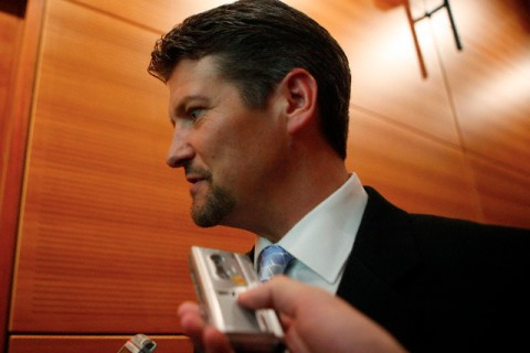 Todd Palin, husband of Governor Sarah Palin of Alaska, attends a town hall meeting on teen pregnancy prevention in New York
