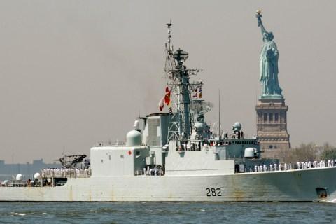 A Canadian Navy ship
