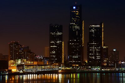 Skyline, Detroit, Michigan, USA