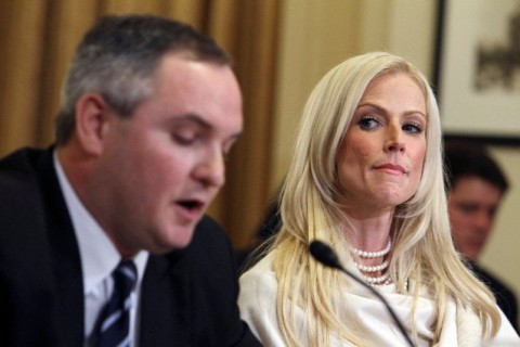 Tareq and Michaele Salahi testify before the House Homeland Security Committee on Capitol Hill in Washington