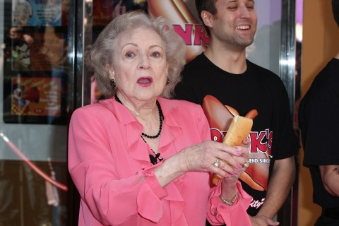 "Pink Hot Dogs Unveils The Betty White ""Naked"" Hot Dog"