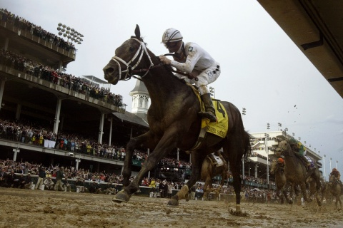 Super Save wins the 136th Kentucky Derby horse race in Louisville.