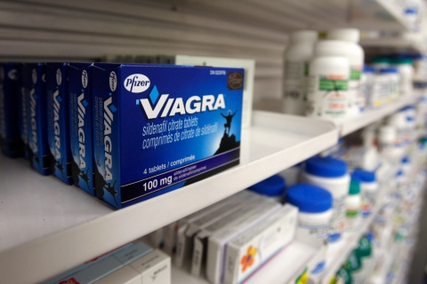 A box of Viagra in a Toronto pharmacy