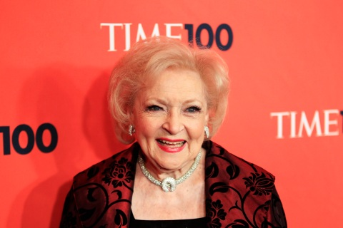 "Actress Betty White arrives as a guest for the ""Time Magazine's 100 Most Influential People in the World"" gala in New York"