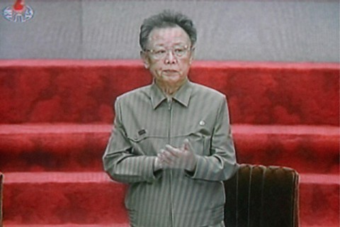 North Korean leader Kim Jong-il attending a meeting of the Supreme People's Assembly at the Mansudae Hall in Pyongyang