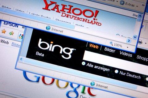 Bing, Google and Yahoo! search bars
