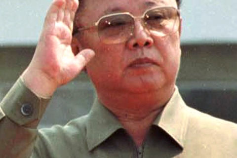 File photo of North Korean leader Kim Jong-il at Sunan airport outside Pyongyang