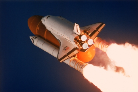 Shuttle Discovery Taking Off