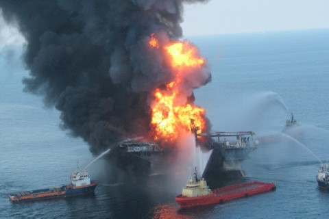 USA - Oil Rig Explosion in the Gulf Coast