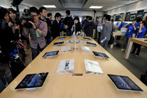 Apple's iPad tablet computer goes on sale in Japan
