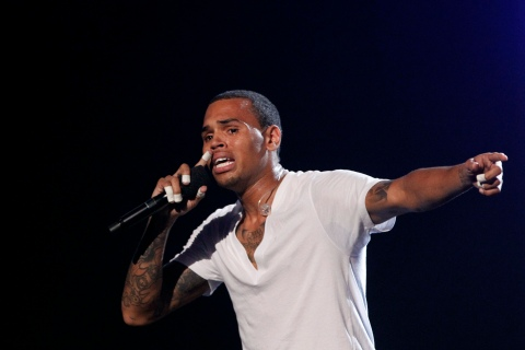 Chris Brown performs at the 2010 BET Awards.