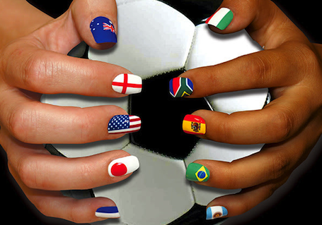 Do It Yourself World Cup Manicure