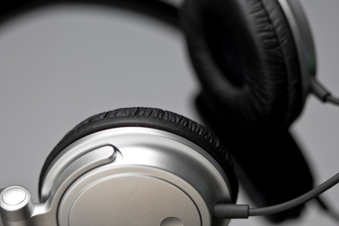 Close-up of headphone