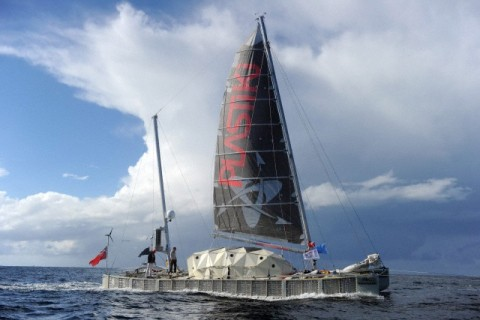 Plastic boat crosses the Pacific to bring attention to overfishing and plastic waste in the Pacific