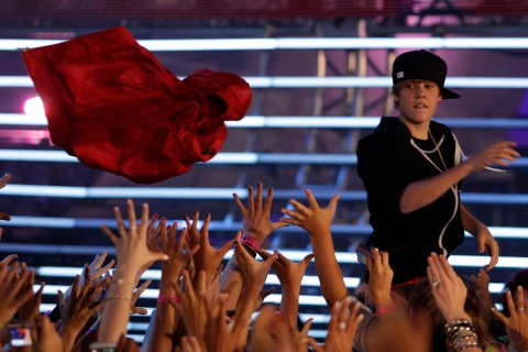 Singer Justin Bieber performs at the 2010 MuchMusic Video Awards in Toronto