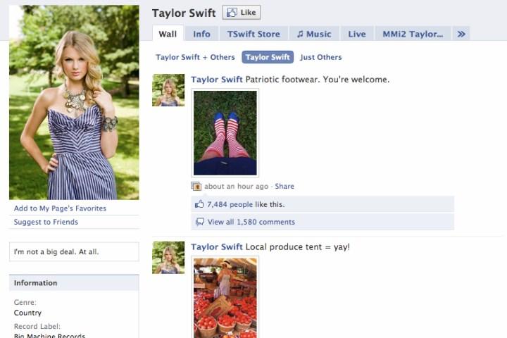 Top 10 (Living) Celebrities on Facebook