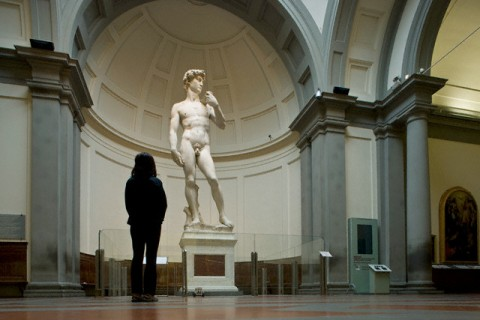 by Michelangelo at Galleria dell'Accademia