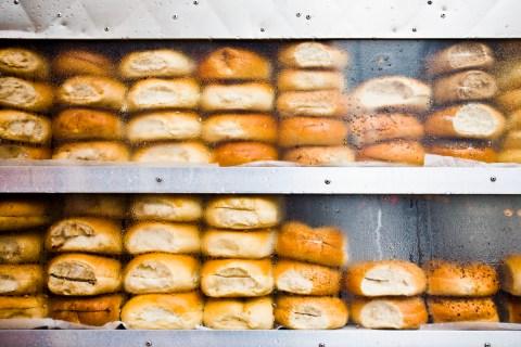 New York bagel shop window
