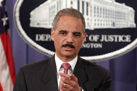 U.S. Attorney General Eric Holder speaks at a news conference in Washington