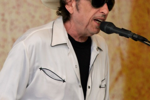 Bob Dylan performs at the New Orleans Jazz and Heritage Festival in New Orleans