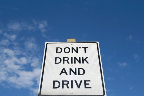 Don't drink and drive road sign