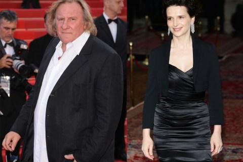 Gerard Depardieu and Juliette Binoche