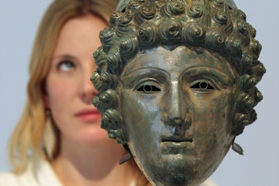 A Bronze Helmet Unearthed By A Metal Detector To Be Auctioned At Christies
