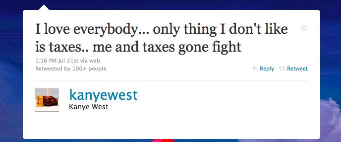 Kanye vs. Taxes