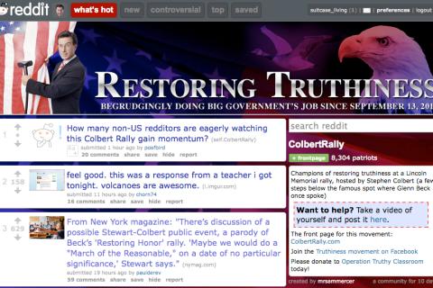 Reddit, Restoring Truthiness