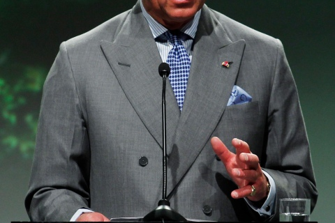 Britain's Prince Charles speaks at the Oslo Climate and Forest Conference