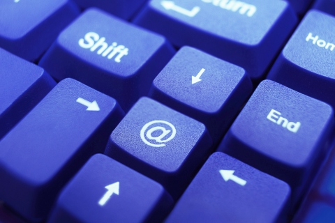 Computer keyboard, @ key.