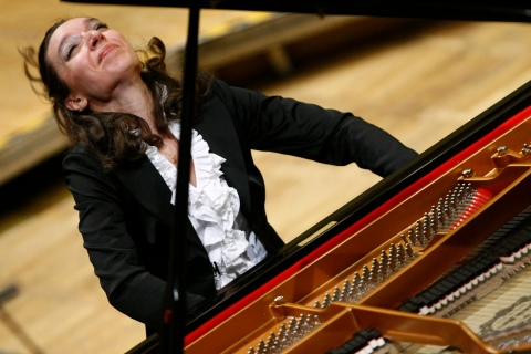 Avdeeva of Russia, first prize winner, performs during concert of the prize winners of the 16th International Fryderyk Chopin Piano Competition at Warsaw Philharmonic