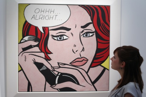 Warhol Masterpiece Displayed As Part Of Christie's Contemporary Art Sale