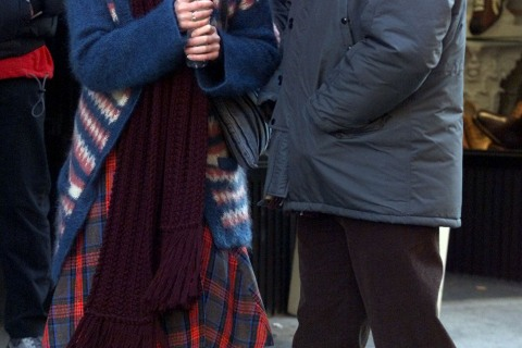 """Jim Carrey and Kate Winslet  on the set of """"Eternal Sunshine Of The Spotless Mind"""""""
