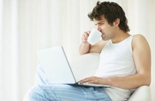 Male Laptop User