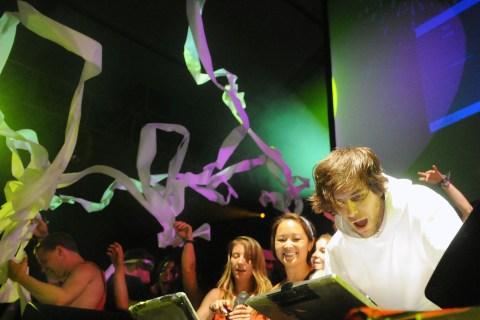 Girl Talk performs at the 2009 Bonnaroo Festival