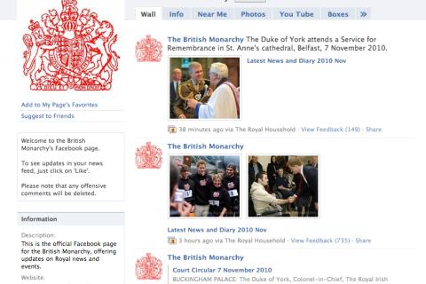 Queen Elizabeth's Facebook Page