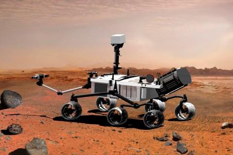 An artist's conception of NASA's Rover.