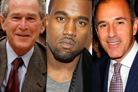 George Bush, Kanye West, Matt Lauer