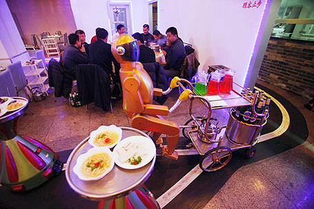 Chinese Robot Waiter