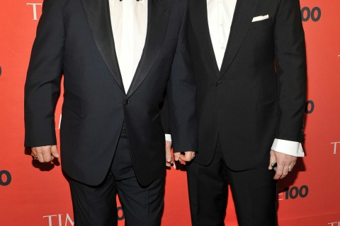 Musician Elton John and David Furnish attend Time's 100 most influential people in the world gala