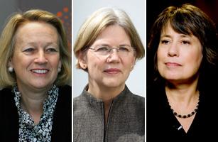Mary Schapiro, Elizabeth Warren and Sheila Bair