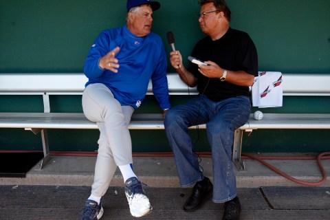 Ron Santo and Lou Piniella