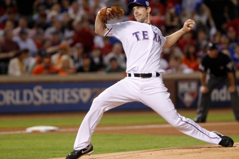 Rangers starting pitcher Cliff Lee