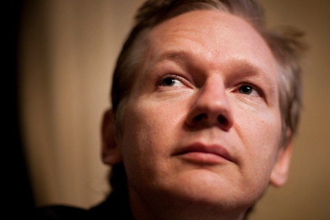 WikiLeaks founder Assange holds news conference at the Geneva Press Club in Geneva
