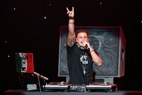 DJ Pauly D performs at the KIIS FM's Jingle Ball concert in Los Angeles
