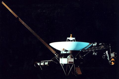Illustration of American spacecraft Voyager 1