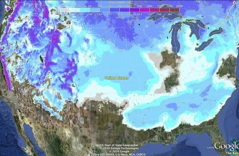 Snow batters the U.S., leaving only Florida unscathed